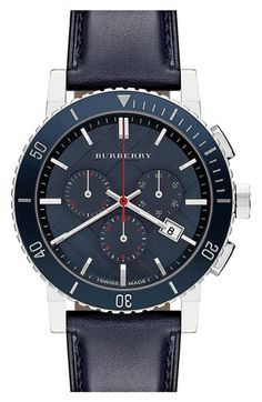 Burberry Check Stamped Chronograph Watch available at #Nordstrom