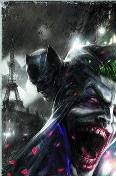 Batman vs Joker at Paris byFrancesco Mattina