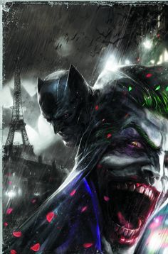 Batman vs Joker at Paris by Francesco Mattina
