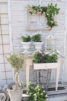 Arreglo vintage para un patio