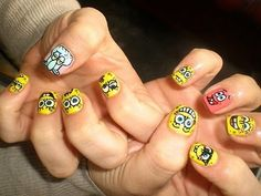 Ahh! Spongebob nails? I would so get these done. <3