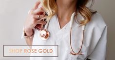 The perfect gift for the most on-trend clinician. Rose gold stethoscopes also available with noirnoir tubing! #rosegold #stethoscope http://www.mdfinstruments.com/mdf-reg-md-one-stainless-steel-premium-dual-head-stethoscope-rose-gold-white