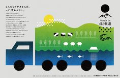 絵本のようなビジュアルで見せる北海道ブランド発信PROJECT | ブレーン 2015年9月号