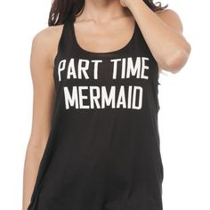 Every Bohipstian has a little mermaid inside them, don't we? When you know you're kind of a magical being and belong at the beach...yes, this Part Time Mermaid Tank is for you. This tank features a scoop neck, racerback, tunic fit. The fabric is super soft and stretchy for an easy fit.  | Shop this product here: spree.to/au78 | Shop all of our products at http://spreesy.com/crazytz    | Pinterest selling powered by Spreesy.com