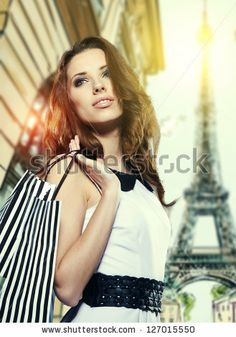 Shopping in Paris - stock photo