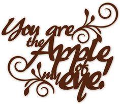 Silhouette Online Store: apple of my eye phrase