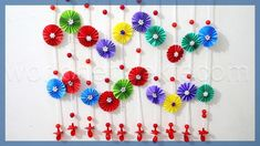 Easy Paper Crafts For Adults Paper Wall Hanging Ideas Paper Craft Ideas For Room Decoration Paper Wall Hanging, Paper Wall Decor, Wall Art Crafts, Diy Wall Art, Paper Decorations, Decor Crafts, Home Crafts, Birthday Decorations, Paper Crafts For Kids