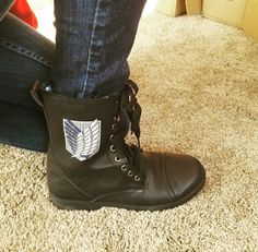 Badge Boots // Attack On Titan Scout Badge Combat Boots