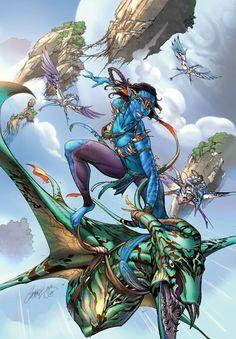 Neytiri - Avatar - line art: J. Scott Campbell, color: Nei Ruffino