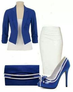 Blue and White on point!!