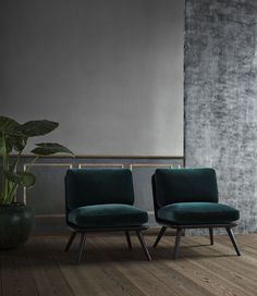 Spine Lounge chairs designed by Space Copenhagen for Fredericia