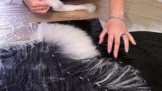 раскладка шерсти для двойных воланов в области выгнутой горловины; как правильно укрепить горловину и борт при наличии двойных воланов