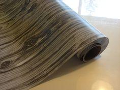 Grey Woodgrain Paper 30 inches x  12 feet. $8.00, via Etsy.