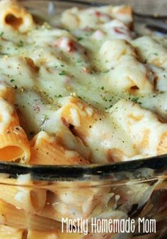 Vegetarian Ranch Pesto Rigatoni Bake- deliciously cheesy and your ...