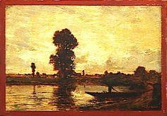 El barquero, 1852-1855 - Théodore Rousseau