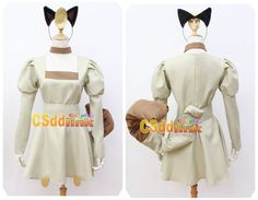 Pokemon Meowth Cosplay Costume with tail   headband #CSddlink #CompleteOutfit