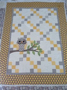 Single Irish Chain - Owl Baby Quilt