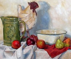 'green pitcher' oil painting 20x24