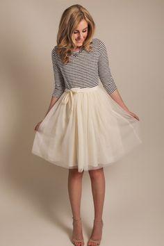 tulle skirt, cream tulle skirt, morning lavender boutique, shop morning lavender, women's clothes, women's boutique, women's online shop, fe...