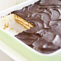 Chocolate eclair cake is one of my new favorite desserts. It is made with pudding, graham cracker crust, cool whip, and chocolate frosting YUM! My grandmother made this cake for father's day this year and it was love at first bite!