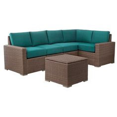Heatherstone 6-Piece Wicker Patio Sectional Seating Furniture Set - Threshold™ : Target