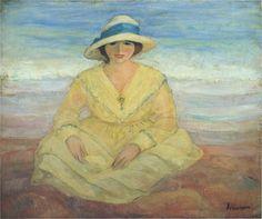 On the Beach ~ Henri Lebasque (French 1865-1937)