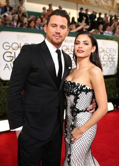 Channing Tatum and Jenna Dewan-Tatum arrived to the 71st Annual Golden Globe Awards held at the Beverly Hilton Hotel on Jan. 12.