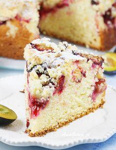 Plum Jam, Food Cakes, Pavlova, Cobbler, Vanilla Cake, Cake Recipes, Food And Drink, Sweets, Polish Food Recipes