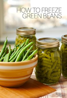 With summer coming to an end, learn how to freeze fresh green beans to preserve their flavor: http://www.bhg.com/recipes/how-to/preserving-canning/freeze-green-beans/?socsrc=bhgpin071914freshgreenbeans