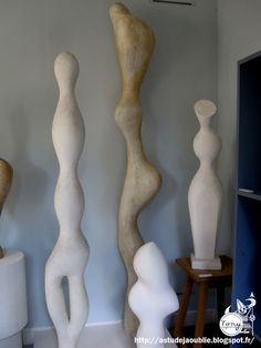 Jean Arp, Statues in the Atelier on ArtStack #jean-arp #art