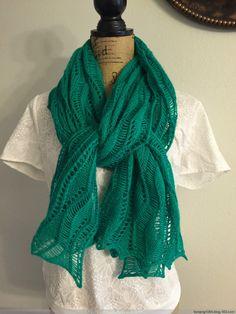 Acanthus 蕾丝围巾 - Tina - Tina的手工编织的博客