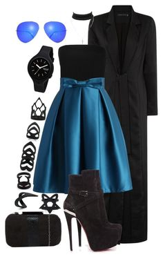 """""""Untitled #1479"""" by katiehorror ❤ liked on Polyvore featuring Rip Curl, Boohoo, Chicwish, Christian Louboutin, Lotus and Charlotte Russe"""