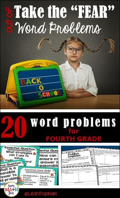 Back to School Word Problems! Perfect for morning work with no prep! Review word problems and your expectations for solving them. Based on Common Core third grade standards, these problem solving tasks are great for reviewing at the beginning of the year. Teacher tested with proven results!