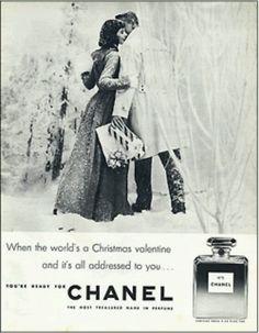 Oude Chanel Nr. 5 reclame met betrekking tot kerst inkopen doen