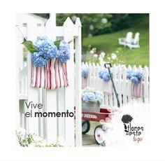 Vive el momento.  #hortensias #flores #elegancia #decoración #hogar #floresdelestetogo