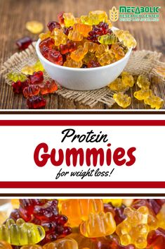 """When you've got a sweet tooth, or want to feel like you are having """"candy"""" our gummies are the perfect solution. Great options for movie theater snacks, a treat between meals, or a sweet treat at a party! 15 grams of protein. No added sugar. Healthy Holiday Recipes, High Protein Recipes, Diet Recipes, Snack Recipes, Protein Pack, Protein Foods, Movie Theater Snacks, Metabolic Diet, Kids Meals"""