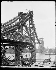 New East River Bridge, Now Williamsburg Bridge, From Brooklyn