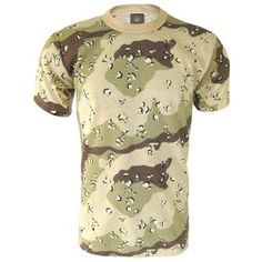 Desert Camo 6 Colour T-Shirt Constructed to last from poly-cotton. Mesh T Shirt, T Shirt And Shorts, Battle Dress, Desert Camo, Outdoor Outfit, Tshirt Colors, Army, Weather, Men Pants