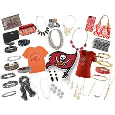 """TAMPA BAY BUCS"" by lauren-steiner on Polyvore"