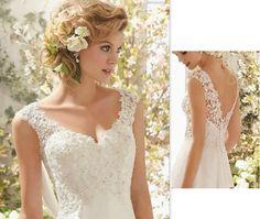 Brautkleider - Brautkleid Sofia - ein Designerstück von whitebridal bei DaWanda