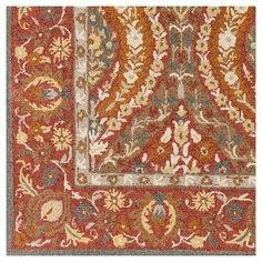 Korce Area Rug - Dark RedMoss - (2'6 x 8') - Surya, Dark Red