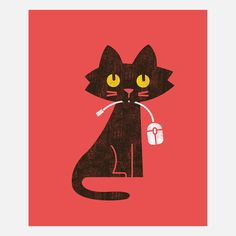 Hungry Hungry Cat - Budi Satria Kwan I NEED a print of this, this is totally my Arnie