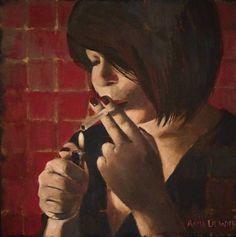 """""""Valentine's day"""" oil painting by Anita Dewitt"""