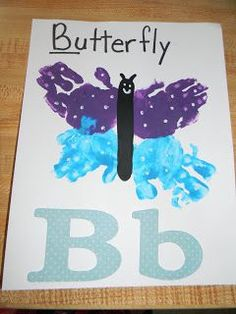 Homemade Memories: Alphabet Book - B is for Butterfly Letter B Crafts, Letter B Activities, Preschool Letter Crafts, Abc Crafts, Alphabet Crafts, Preschool Learning Activities, Alphabet Book, Daycare Crafts, Classroom Crafts