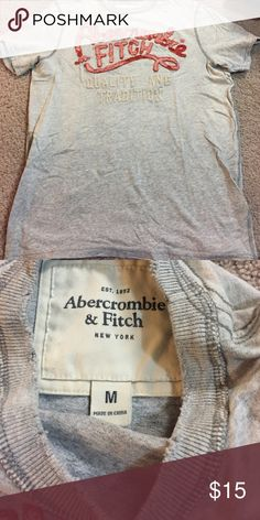"""T-shirt A&F t-shirt this is the new """"typical """" teens t-shirt it's apparently called the grudge look ~ no stains or holes Abercrombie & Fitch Shirts Tees - Short Sleeve"""