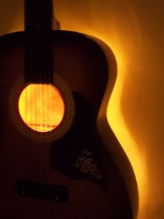 Upcycled Vintage Acoustic Guitar Electric Wall Lamp w/ by ReGenR8, $349.00