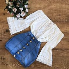 Korean Fashion Trends and Fashion Ideas For Teens Ootd. Cute Summer Outfits, Cute Casual Outfits, Pretty Outfits, Stylish Outfits, Spring Outfits, Girls Fashion Clothes, Teen Fashion Outfits, Mode Outfits, Cute Fashion