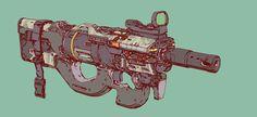 ArtStation - Gun_Run 17, by Elijah McNeal