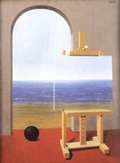 """René Magritte (surrealista belga 1898-1967) - """"La condizione umanaII"""" - 1935 - Collezione Simon Spierer, Ginevra - In realtà un quadro nel quadro"""