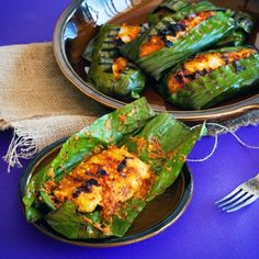 Otak-Otak (Malaysian Barbequed Fish) Fish and spice paste are packed inside a banana leaf and barbecued for this crazy good and unexpected dish.
